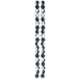 Black & White Round Rubber Coated Glass Bead Strands