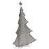 Silver & White Metal Tree With Presents