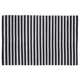 Black & White Striped Rug