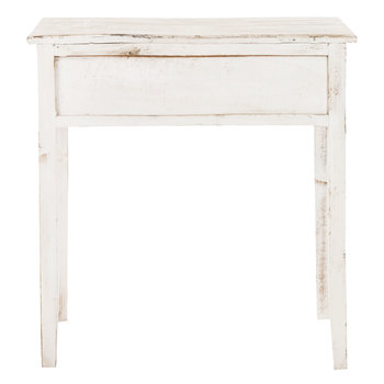 Antiqued Sofa Table with Drawers