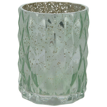 Green Diamond Mercury Glass Vase - Small