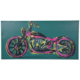 Neon Motorcycle Canvas Wall Decor