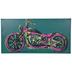 Neon Motorcycle Canvas Wall Decor