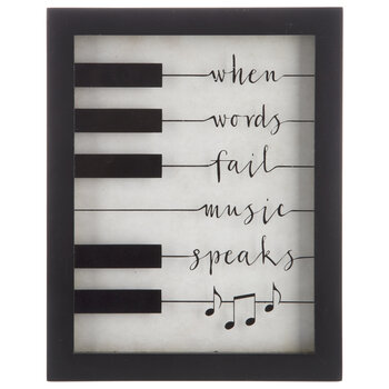 Music Speaks Framed Wall Decor