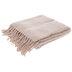 Blush Fringe Faux Mohair Throw Blanket