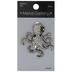 Rhinestone Octopus Brooch