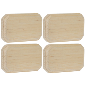 Clipped Corner Rectangle Wood Plaques