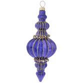 Purple & Gold Onion Icicle Ornament