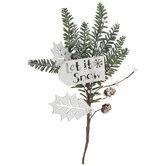 Let It Snow Pine Pick