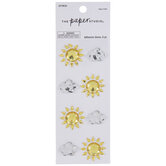 Sun & Cloud Rhinestone Stickers