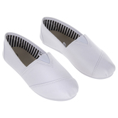 White Canvas Slip-On Youth Shoes