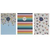 Hearts, Floral & Striped Notebooks