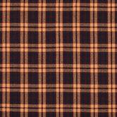 Wine & Navy Plaid Cotton Calico Fabric