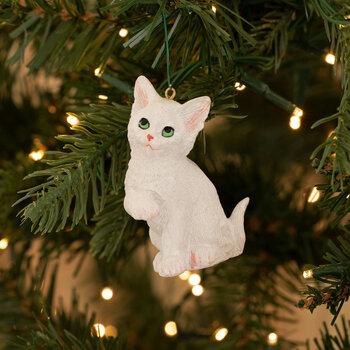 White Kitten Ornament
