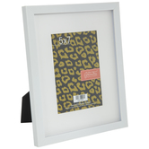 "White Frame With Mat - 5"" x 7"""