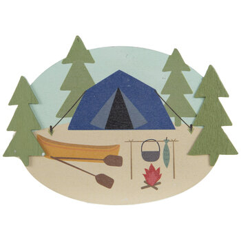 Campsite Painted Wood Shape