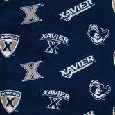 Xavier Allover Collegiate Fleece Fabric