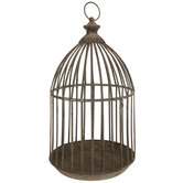 Distressed Metal Bird Cage