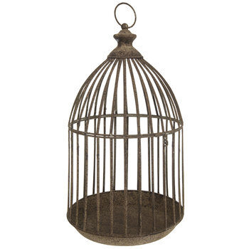 Distressed Metal Bird Cage