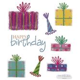 Birthday Presents Glitter Stickers