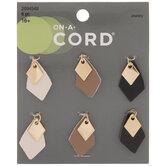 Imitation Leather Layered Diamond Charms