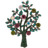 Tree Rhinestone Brooch