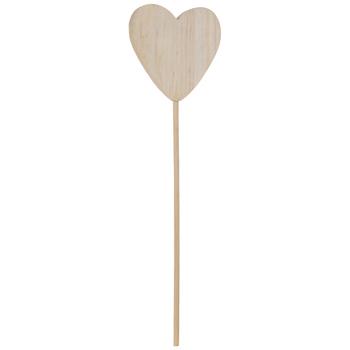 Wood Heart Pick