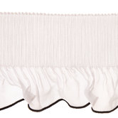 White & Black Accordion Pleated Chiffon Trim