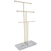 Marble & Brass Metal Tiered Jewelry Holder