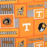 Tennessee Block Collegiate Fleece Fabric