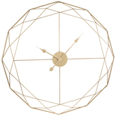 Gold Geometric Wire Metal Wall Clock