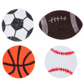 Sports Felt Shapes Stickers