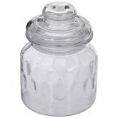 Textured Glass Jar