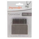Typewriter Uppercase Letter Metal Stamps - 3mm