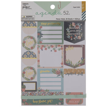Floral Goals Foil Stickers