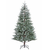 Misty Blue Pine Pre-Lit Christmas Tree - 7 1/2'