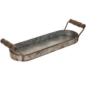 Distressed Galvanized Metal Tray