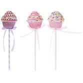 Pink & Purple Sprinkled Cupcake Picks