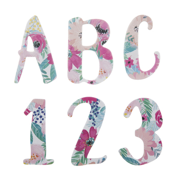 Floral Alphabet Stickers