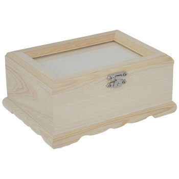 Wood Box With Frame Top