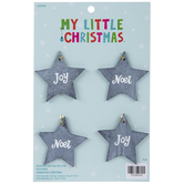 Mini Noel & Joy Star Ornaments