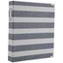 Navy & White Striped 3-Ring Scrapbook Album - 8 1/2
