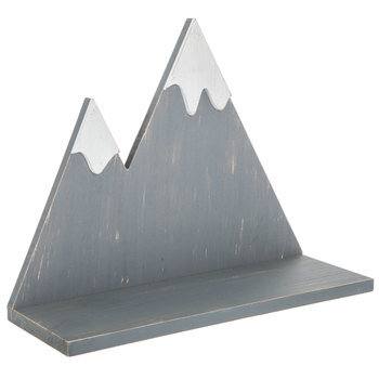 Gray & White Mountains Wood Wall Shelf