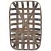 Whitewash Wood Wall Basket - Large