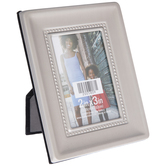 """Pewter Concave Beaded Wall Frame - 2"""" x 3"""""""