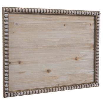 Whitewash Beaded Frame Wood Wall Decor