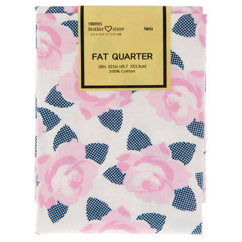 Pink & Navy Rose Fat Quarter