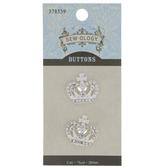 Crown Rhinestone Buttons - 20mm