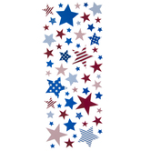 Red, White & Blue Star Foil Stickers