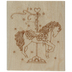 Carousel Pony Rubber Stamp
